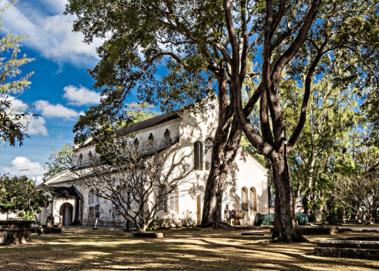 Exterior of St James Parish Church- Barbados Wedding Photographer